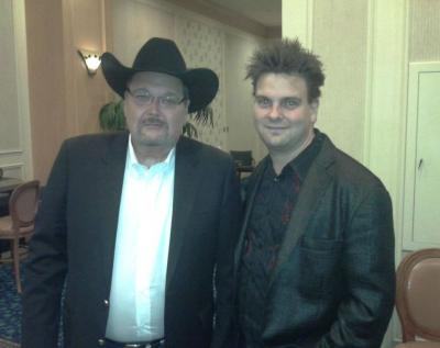 Hypnosis Unleashed Kevin Lepine with Hall of Famer announcer Good Ol JR Jim Ross