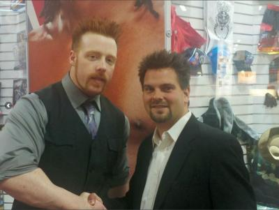 Kevin Lepine if Hypnosis Unleashed meeting WWE Champion Sheamus