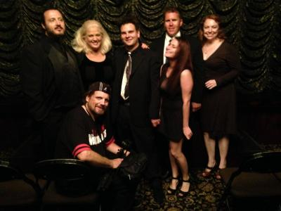 Hypnotist Kevin Lepine back stage at the Magic Castle