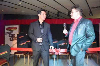 Kevin Lepine of Hypnosis Unleashed with Shea Arender at the Ribbon cutting ceremony