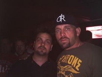 Las Vegas Comedy Hypnosis Show star Kevin Lepine with UFC Fighter Shane Carwin